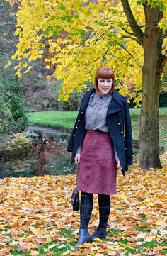 Checked tights for autumn and winter