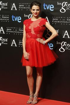 Macarena Gómez con joyas de Suárez en la fiesta de los Premios de los Nominados a los Goya 2015