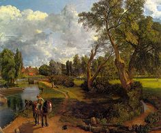 John Constable 1776 – was an English Romantic painter. Famous Artists, Great Artists, Landscape Art, Landscape Paintings, John Constable Paintings, English Romantic, Cool Landscapes, Art Reproductions, Beautiful Paintings