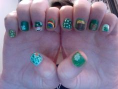Just did my nails for tomorrow. Happy St Patricks Day!