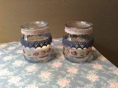 Espalmatories amb pots de yogur decorats