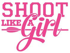 Shoot Like a Girl Hot PInk Sticker. This Archery Squad favorite slogan is now available in a decal/sticker perfect for your vehicle, bow case or anywhere you'd like to show off your pride! This decal