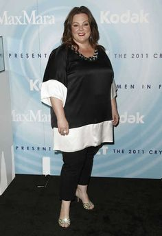 Melissa McCarthy wearing Marina Rinaldi, I love all her acting, shes amazing<3
