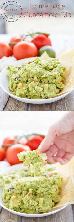 Homemade Guacamole Dip | http://thecookiewriter.com | @thecookiewriter | #guacamole