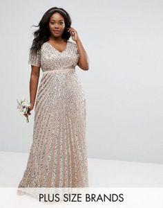 8bbdcd41d0 ASOS Sequin Bandeau Dress with Chiffon Skirt - £10.50