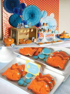Bubbly & Cute Goldfish Birthday Party