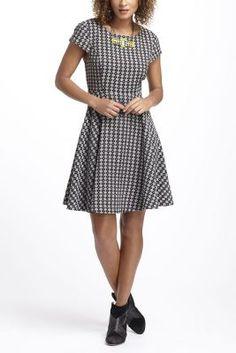 Jacquard Circle-Skirt Dress
