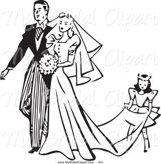 7 Best Weddings images | Bride clipart, Wedding dresses