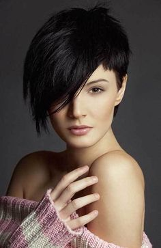 ASYMMETRICAL SHORT HAIRSTYLE FOR ROUND FACE There are some short hairstyles for round faces which will make you look younger than your actual age. This asymmetrical hairstyle for round faces is one of the face shape which will make you look 5 to 10 years younger than your actual age.............