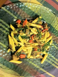 Penne Rustica: Pasta with Steak, Roasted Red Pepper and Kale: Recipes posted asap