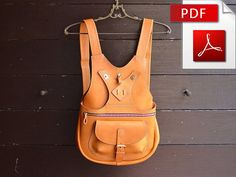 Leather backpack sewing pattern. PDF by Craftstore16 on Etsy