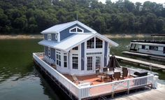 Cute house ideas cute house and it floats tiny house item ideas house floating house cottage Tiny House Living, Cottage Living, My House, Boat House, House Boats For Sale, Houseboat Living, Houseboat Rentals, Cute House, Sweet House