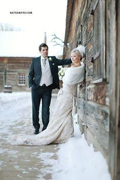 Fort Edmonton Park - Winter wedding photo shoot. Fur would be the best part of a winter wedding!