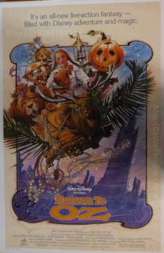 """Disneyland 30th Anniversary. 1985 . """"Return To Oz"""" , Motion Picture Poster ."""