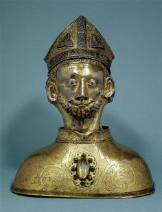 Head reliquary of Saint Martin, from the second quarter of the 14th centuy.  (C) RMN-Grand Palais (musée du Louvre) / Droits réservés