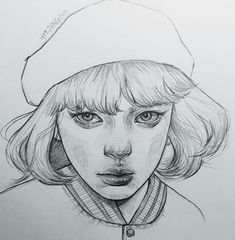 how to draw doodles Portrait Sketches, Pencil Portrait, Drawing Sketches, Amazing Drawings, Realistic Drawings, Amazing Art, Tumblr Drawings, Art Drawings, Sketchbook Inspiration