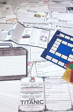 Are you looking for a fun and engaging way to teach your students about the Titanic? This Titanic Interactive Unit contains 32 boarding passes for real passengers and crew members, luggage tags, reading passages, a game, math printables, timelines, writing activities, vocab work, and SO much more!