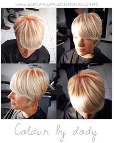 This lady has been keen to try out the latest Goldwell Pastel hair colours and this has got to be the most wearable office-friendly version of the trend. Dody lightened the hair before adding the stunning apricot roots...we think it looks fantastic!   We offer bespoke hair colouring at our Cardiff salon to suit the individual.  Call 02920461191 to book your complementary colour consultation O.Constantinou & Sons. 99 Crwys Rd Cardiff. CF24 4NF #simonconstantinou #hairdresserscardiff #hairsaloncar Apricot Hair, Grey Hair Don't Care, Latest Hair Color, Colour Trends, Hair And Beauty Salon, Hair Colours, Pastel Hair, Short Hairstyle, Hair Transformation