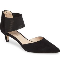 Free shipping and returns on Pelle Moda Dezi Pump (Women) at Nordstrom.com. <p>A mesh strap at the ankle updates a kitten-heel pump in a pointy-toe silhouette that takes you from work to a night on the town with effortless style.</p> Kitten Heel Pumps, Women's Pumps, Nordstrom Shoes, Styles P, Swagg, Unique Fashion, Heeled Mules, Footwear, Ankle