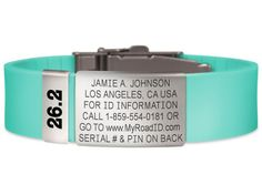 "The Road ID Bracelet displays a phone number and URL where an EMT can find out all your information, including your contact info and who to call in case of an emergency. It comes in a variety of styles, from a silicone-band bracelet to something you can clip to your shoes, and you can even add charm-like ""badges"" if you want to dress them up a little more. #iGottaTravel"