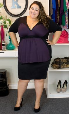 f3840d009d26c Plus size work wear. Vannessa is thinking outside the block (see what I did