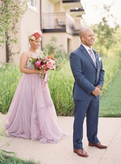 Photography : Michael and Carina Photography Read More on SMP: http://www.stylemepretty.com/2016/10/13/the-bride-wore-a-lilac-wedding-gown-and-were-obsessed/