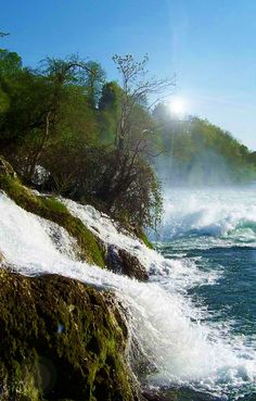 Top 11 Most Breathtaking Waterfalls Around The World - Page 3 of 11 - Rhine Falls, Switzerland Places Around The World, Oh The Places You'll Go, Places To Travel, Places To Visit, Around The Worlds, Beautiful World, Beautiful Places, World Pictures, All Nature