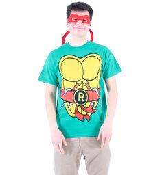If you've ever wanted to dress up as one of the Teenage Mutant Ninja Turtles for Halloween you've now got that option. Our officially-licensed TMNT Teenage Mutant Ninja Turtles Adult T-shirts are available for all the Turtles and can be worn as a Halloween costume, cosplay outfit, or just for fun hanging around the house. Now you can be Ralpheal, Donatello, Michelango, or Leonardo when you wear one of their TMNT tees today. Turtles power!