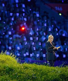 J.K. Rowling reading from Peter Pan at the 2012 Olympics in London. Shes such a bad ass.
