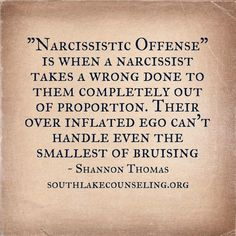 Narcissistic Offense