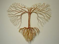 Tree of Love in copper or multicolored wire by TwistedGypsyArt