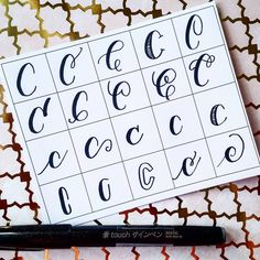 20 ways to write the letter C by @letteritwrite • see also the video of her writing the letters