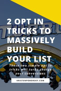 These two email list building opt in tricks are so simple a beginner can do them!