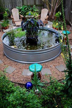 Outdoor ideas on pinterest pallets garden repurposed for Round garden pond designs