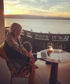 Maria's Instagram: Sunsets spent editing the second pass of my memoir. September cannot come soon enough  #Unstoppable