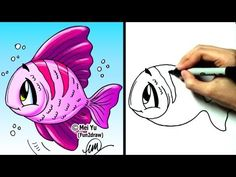 """How to draw a fish"" - ""How to draw a cartoon fish"" - ""How to draw cute pets"" - ""How to draw sea animals"" step by step! More easy cartoon drawings: http://www.youtube.com/Fun2draw    Watch these AWESOME Fun2draw playlists:    How to Draw Sea Animals  http://www.youtube.com/playlist?list=PLAD4C1B53204EDFF5    How to Draw Pets  http://www.youtube.com/play..."