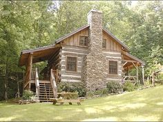 antique log cabin fireplace   Little Creek Cabin - Antique Logs Rebuilt as Cozy Log Cabin (Near ...