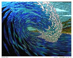 free stained glass ocean patterns | Mace+++Stained+Glass+Artist+++barrelling+wave+++tunnel+++amazing+glass ...