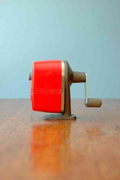 Pencil sharpener. Ours was wood grained.