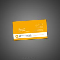 Business Card Transport - Yellow and white