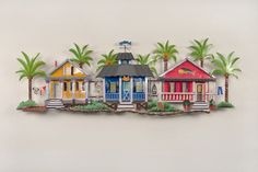 Material: Metal. Each piece is hand-painted Mounting Hardware: Hook/Hooks attached on the back of the item Usage: Indoor / Outdoor <