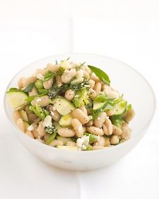 White-Bean Salad with Zucchini and Parmesan