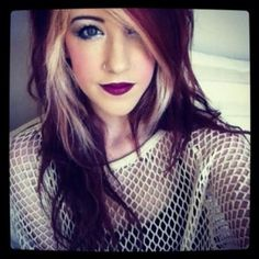 Oh if only I could pull this off! Beautiful. Blonde around your face to highlight it and a dramatic red on top. <3
