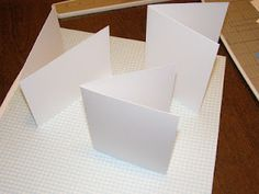 Cutting three cards from one 12x12 sheet of cardstock