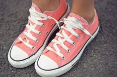 What shoe is more cute? The coral pink converse or the mint high converse in the next pic? Leave ur answer in the comment section.