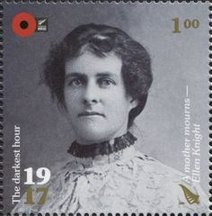 Stamp: A Mother Mourns - Ellen Knight (New Zealand) (100th Anniv. of WWI: 1917. The Darkest Hour.) Mi:NZ 3439,Sg:NZ 3879