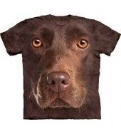 Chocolate Lab Face T Shirt - by the Mountain