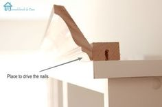 DIY:  Excellent instructions on how to add crown molding to plain furniture.