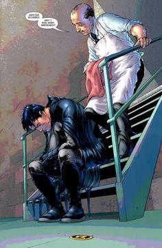 Alfred consoles Dick Grayson (Batman)