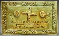"""Blessing of Brigid Home Blessing Plaque - """"May the blessings of Brigid protect this home, and all who dwells within"""""""